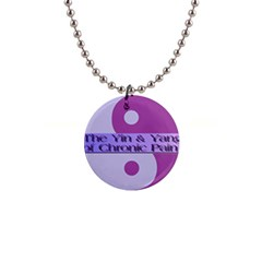Yin & Yang Of Chronic Pain Button Necklace