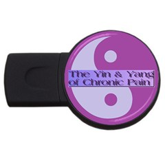 Yin & Yang Of Chronic Pain 4GB USB Flash Drive (Round)