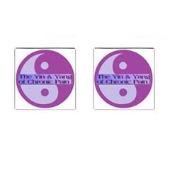 Yin & Yang Of Chronic Pain Cufflinks (square)