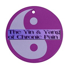 Yin & Yang Of Chronic Pain Round Ornament (Two Sides)