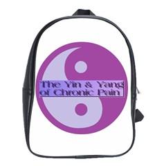 Yin & Yang Of Chronic Pain School Bag (large)