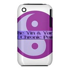 Yin & Yang Of Chronic Pain Apple iPhone 3G/3GS Hardshell Case (PC+Silicone)