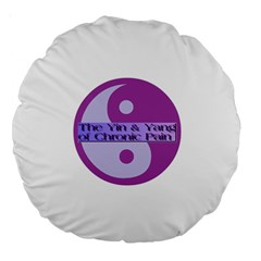 Yin & Yang Of Chronic Pain 18  Premium Round Cushion