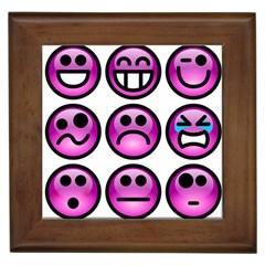 Chronic Pain Emoticons Framed Ceramic Tile