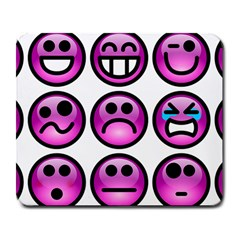 Chronic Pain Emoticons Large Mouse Pad (rectangle)