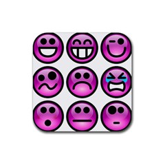 Chronic Pain Emoticons Drink Coaster (Square)