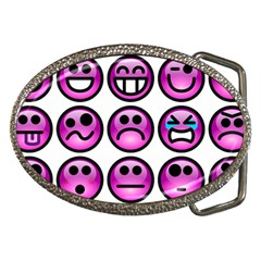 Chronic Pain Emoticons Belt Buckle (oval)