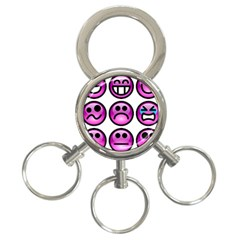 Chronic Pain Emoticons 3-Ring Key Chain