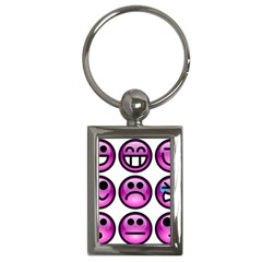 Chronic Pain Emoticons Key Chain (Rectangle)
