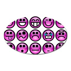 Chronic Pain Emoticons Magnet (Oval)