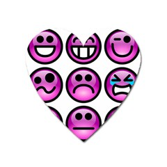 Chronic Pain Emoticons Magnet (heart)