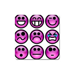 Chronic Pain Emoticons Magnet (Square)