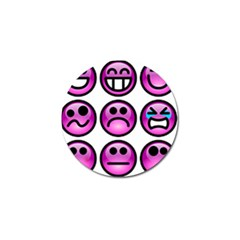 Chronic Pain Emoticons Golf Ball Marker 4 Pack