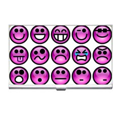 Chronic Pain Emoticons Business Card Holder