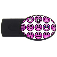 Chronic Pain Emoticons 1GB USB Flash Drive (Oval)