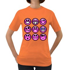 Chronic Pain Emoticons Women s T-shirt (Colored)