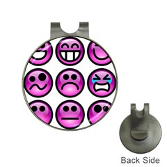 Chronic Pain Emoticons Hat Clip With Golf Ball Marker