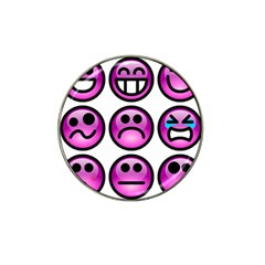 Chronic Pain Emoticons Golf Ball Marker 4 Pack (for Hat Clip)