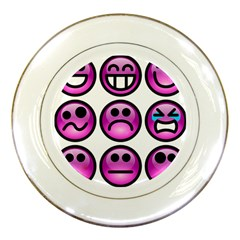Chronic Pain Emoticons Porcelain Display Plate