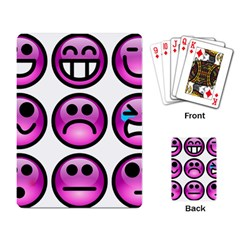 Chronic Pain Emoticons Playing Cards Single Design