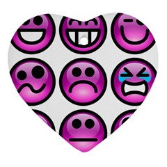 Chronic Pain Emoticons Heart Ornament (Two Sides)