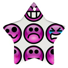 Chronic Pain Emoticons Star Ornament (Two Sides)