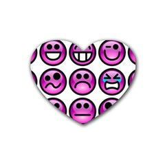 Chronic Pain Emoticons Drink Coasters 4 Pack (Heart)