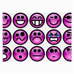 Chronic Pain Emoticons Glasses Cloth (Large, Two Sided)