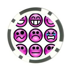 Chronic Pain Emoticons Poker Chip