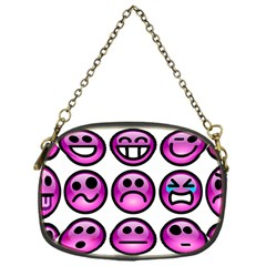 Chronic Pain Emoticons Chain Purse (one Side)