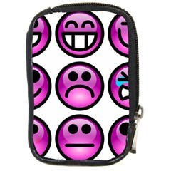 Chronic Pain Emoticons Compact Camera Leather Case