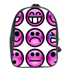 Chronic Pain Emoticons School Bag (Large)