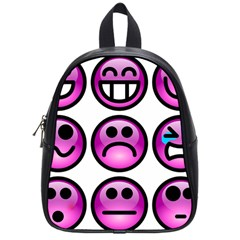 Chronic Pain Emoticons School Bag (small)