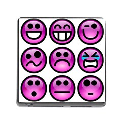 Chronic Pain Emoticons Memory Card Reader with Storage (Square)