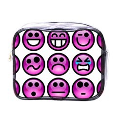 Chronic Pain Emoticons Mini Travel Toiletry Bag (One Side)