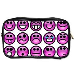 Chronic Pain Emoticons Travel Toiletry Bag (one Side)