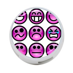 Chronic Pain Emoticons 4 Port Usb Hub (one Side)