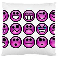 Chronic Pain Emoticons Large Cushion Case (two Sided)
