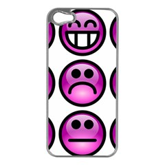 Chronic Pain Emoticons Apple iPhone 5 Case (Silver)