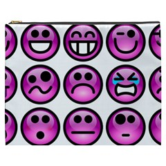 Chronic Pain Emoticons Cosmetic Bag (XXXL)