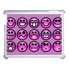 Chronic Pain Emoticons Apple iPad 3/4 Case (White)