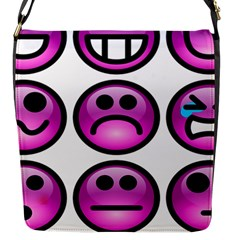 Chronic Pain Emoticons Flap Closure Messenger Bag (Small)