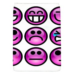 Chronic Pain Emoticons Removable Flap Cover (small)