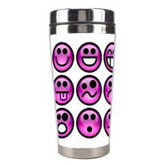 Chronic Pain Emoticons Stainless Steel Travel Tumbler