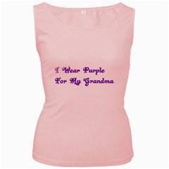 I Wear Purple For My Grandma Women s Tank Top (Pink)