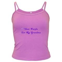 I Wear Purple For My Grandma Spaghetti Top (Colored)