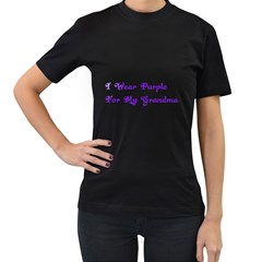 I Wear Purple For My Grandma Women s T-shirt (Black)