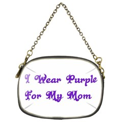 I Wear Purple For My Mom Chain Purse (Two Sided)