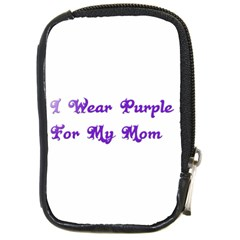 I Wear Purple For My Mom Compact Camera Leather Case