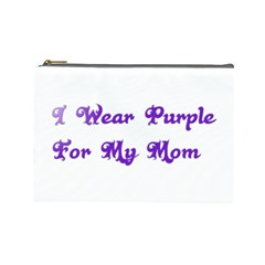 I Wear Purple For My Mom Cosmetic Bag (Large)